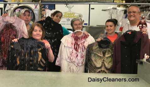 Daisy cleaners team with halloween  costumes