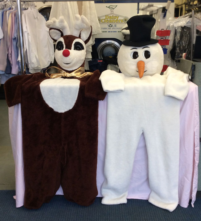 santa and frosty uniforms