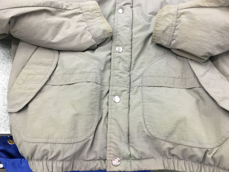 a clean jacket after drycleaning