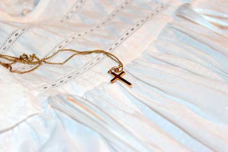 We restore and clean christening gowns
