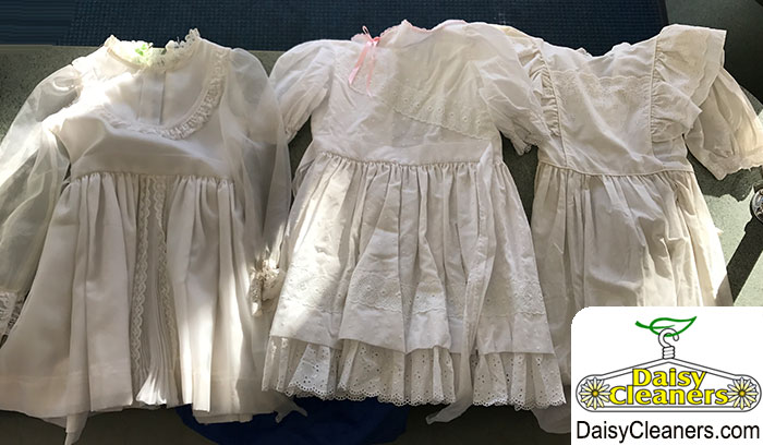 3 dirty children's dresses