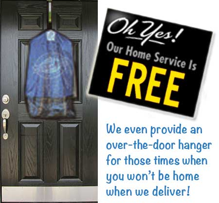 Daisy Cleaners provides a free door hanger!